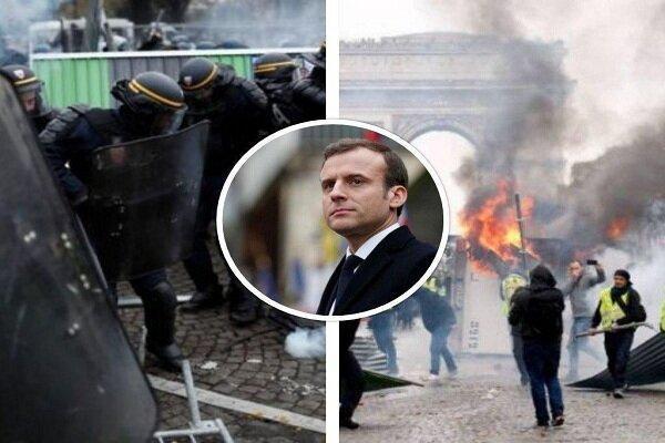 تظاهرات جلیقه زرد ها در فرانسه برگزار گردید