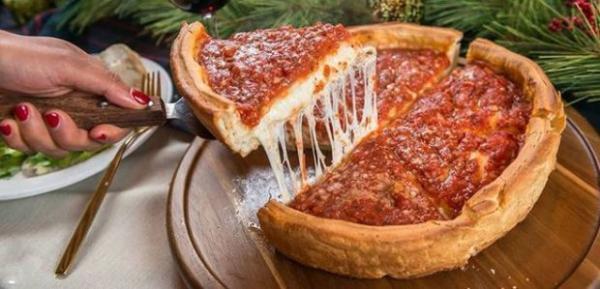 طرز تهیه پیتزا شیکاگو (پیتزا دیپ دیش) آمریکایی اصل